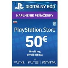 PlayStation Live Cards 50 EUR Hang pre SK PS Store