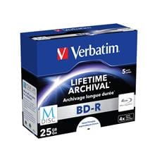 Verbatim M-DISC BD-R 4x 25GB Inkjet printable 5-pack Jewel Case