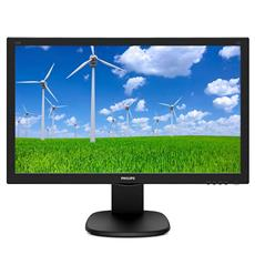 Monitor Philips 243S5LJMB - 24'', LED, FHD, DVI, HDMI, DP, pivot