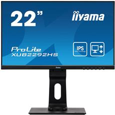 Monitor iiyama XUB2292HS-B1, 22'', IPS, FullHD@75, 250cd/m2, 4ms, VGA, HDMI, DP, height, pivot, čierny