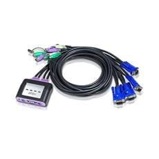 ATEN KVM switch CS-64A PS/2 4PC mini vč. kabeláže 1,2