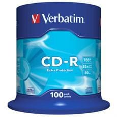 VERBATIM CD-R(100-Pack)Spindl/ExtraProtect/52x/700