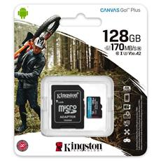 128GB microSDXC Kingston Canvas Go! Plus A2 U3 V30 170MB/s + adaptér