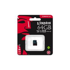 Kingston 64GB microSDXC Canvas GO (90R/45W U3 UHS-I V30 Card bez SD Adaptéra)