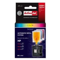 Automaticky Refill system ActiveJet  pre HP 22/28/57 color    6x4ml  ARS-22