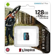 128GB microSDXC Kingston Canvas Go! Plus A2 U3 V30 170MB/s bez adaptéra